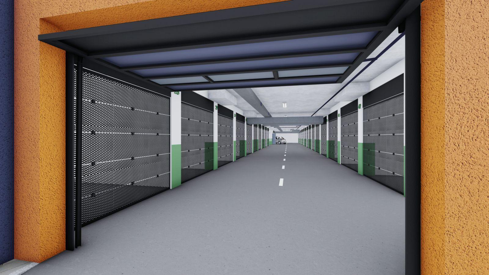 Підземний паркінг з окремо виділеними паркомісцями